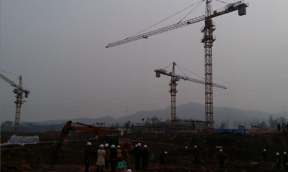 重庆桥瑞5610塔机的基础图图片